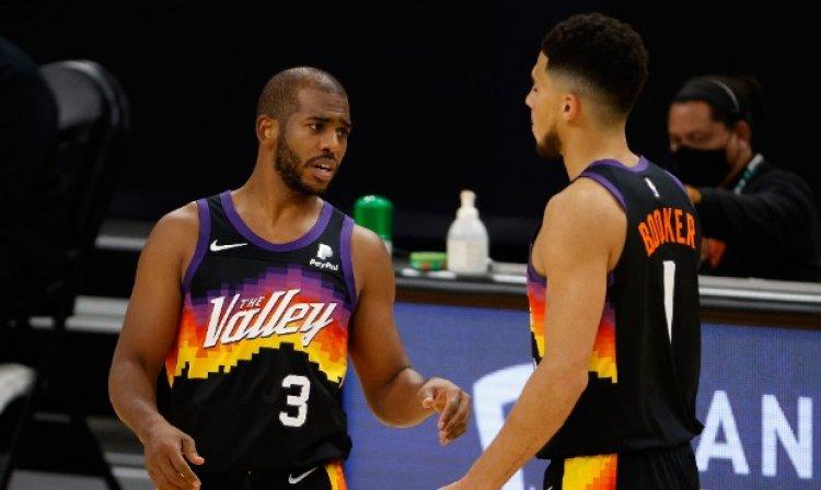 NBA : Devin Booker et Chris Paul transportent les Phoenix Suns en finale de la conférence Ouest